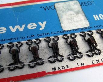 Vintage Black Hook & Eye Sheet - Incomplete Pack