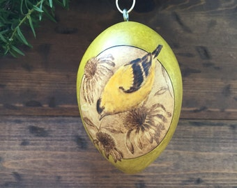 Goldfinch Ornament egg gourd