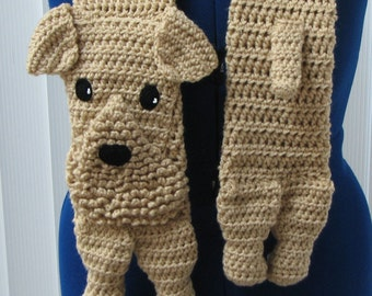 Airedale Scarf Crochet Pattern In USA Terms, PDF, Digital Download