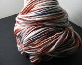 SALE... Was 8.50... Now 6.00...CAMOUFLAGE...handspun, handpainted wool/mohair yarn...4oz...180yd