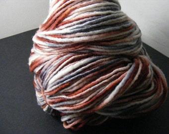 SALE... Was 8.50... Now 6.00...CAMOUFLAGE...handspun, handpainted wool/mohair yarn...4oz...180yd