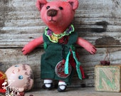 Roberto, Little Hand Painted Red Bear