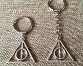 Deathly Hallows Keychain / Harry Potter Keychain /  Deathly Hallows Key Ring / Harry Potter Key Ring / Fandom Keychains
