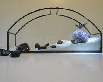 Glass Terrarium, Modern Planter, Home Decor, Garden Art, Recycled Glass, Display, Container for Diorama, Atrium, Conservatory, Greenhouse