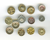 RESERVED for Gail Lot of Victorian Metal Buttons Wholesale Bakers Dozen (13) Small Antique