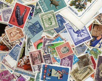 Vintage Postage Stamps LARGE Colorful Lot of 100 Foreign MORE AVAILABLE 1167