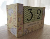 Countdown to Baby, Baby Countdown, Pregnancy Calendar, Wooden Block Calendar, Zoo Animals, Baby Animals, Shower Gifts for Her, Unisex Gifts
