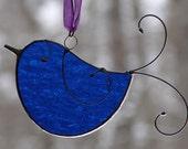 Stained Glass Little Bluebird