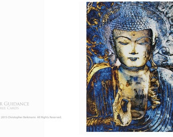 Inner Guidance - Two Blue Buddha Tree-Free Greeting Cards by Christopher Beikmann