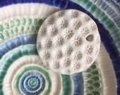White bleached coral porcelain pendant -sale