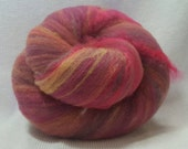 HALF OFF Yarn Hollow Foxy Batts Mixed Up Bits of Everything, Stripey Colors that are a Blast to Spin - Foxy Batt No 4-8