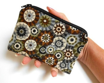 Coin Purse Little Padded Zipper Pouch ECO Friendly NEW Pinwheels
