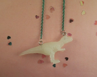 Glow in the Dark Dinosaur Necklace