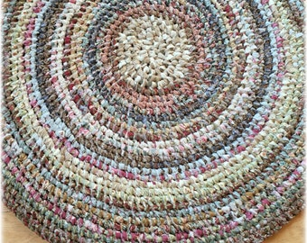 Amish Knot Rag Rug a.k.a. Toothbrush Rug Country Cottage Farmhouse Handmade OOAK