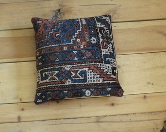 Antique rug pillow