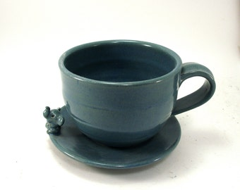 elephant cup and saucer