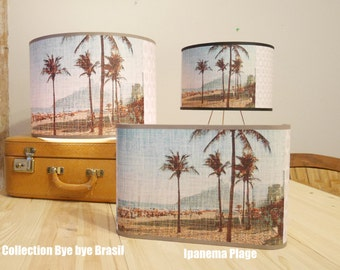 """Suspension Collection Bye bye Brasil""""the girl from Ipanéma"""" Plage de Rio"""