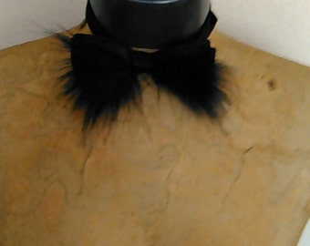 Fathers Day Black Faux Fur Tie