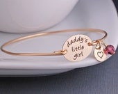 Daddy's Little Girl Bracelet Jewelry for Daughter from Father, Custom Daddy's Girl Jewelry, Gift from Dad, Valentine's Day Gift for Daughter
