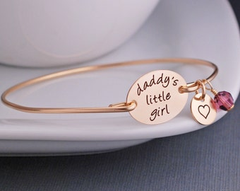 Daddy's Little Girl Bracelet Jewelry for Daughter from Father, Custom Daddy's Girl Jewelry, Gift from Dad, Wedding Day Gift for Daughter