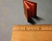 Tiny Leather Book with Pink Pages