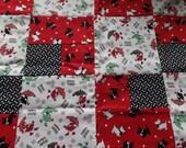 Scotty dog fabric quilt top. Children's quilt top. Quilt top. Sale.