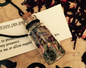 Protection Spell Jar Pendant/Necklace