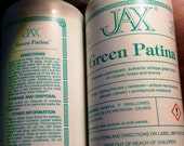 4 oz. (118 ml) JAX Green Patina.   Produces a permanent antique green finish on Copper, Brass & Bronze