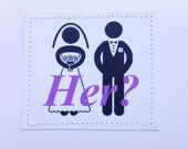 Humorous sarcastic wedding card. Her.