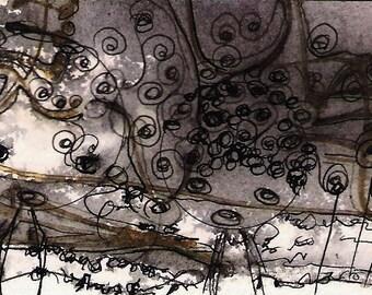 No. 2003, ACEO Original Art Card