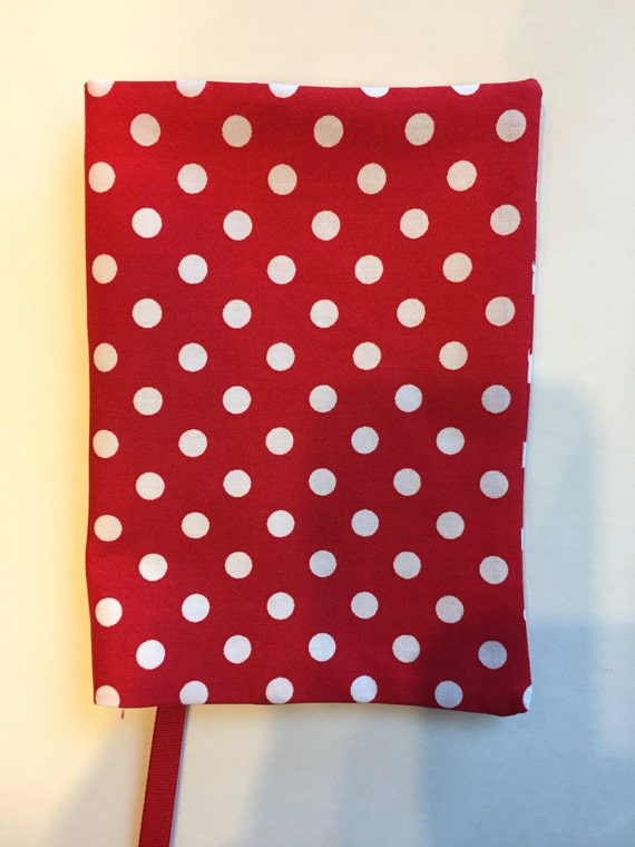 Fabric Paperback Book Covers With Handles : Paperback book cover fabric red polka dot