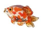 Orange & white koi Glass bead fish necklace, Lampwork Glass Beads, carp, pond fish, ocean handmade focal bead, jewelry supplies, SRAJD, CGGE