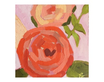 "Original Acrylic Painting - ""Rose V"""