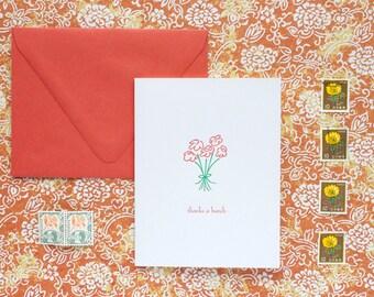 Thanks a Bunch - letterpress card