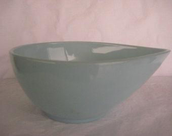 Fire King Teardrop  Swedish Modern  Blue Bowl