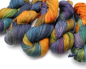 Flower Shop Inferno Variegated Hand Dyed Yarn - sock, sport, dk, worsted, aran, super bulky -  Dyed to Order