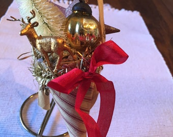 Tussie mussie Christmas ornament vintage style