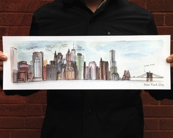 New York Skyline Flat Card