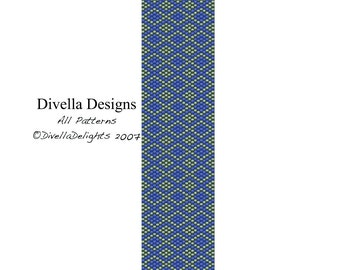 Peyote Bracelet, Argyle, Tutorial, Pattern, Free Earring and Clasp Tutorials