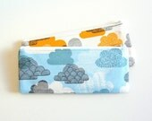 Long Zipper Pouch, Pencil Pouch, Pencil Case, Kids, School Supplies, Women, Coin Purse, Organizer Eloise Renouf Passing Clouds