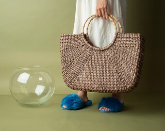 oversized straw tote bag / large woven market bag / oversized straw purse / 1227a