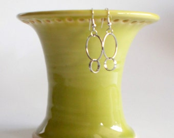 Yellow Earring Holder Stoneware Pottery Gift for Her Ready to Ship