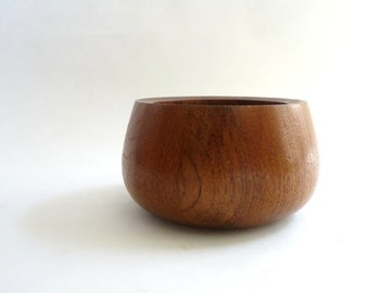 SUMMER SALE Danish Modern Dansk Staved Teak Serving Bowl by Jens Quistgaard