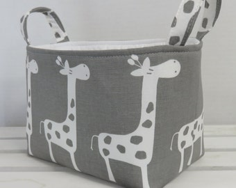 Giraffe Fabric - Organizer Storage Fabric Bin Basket Bucket Container Organization - Choose the Outside and Inside/ Lining Fabrics