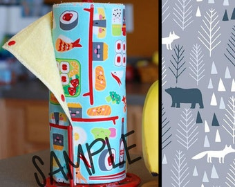 Unpaper Towel | Reusable Paper Towel - Arctic Woods (0444073) Tree Saver Towel | Kitchen Towel | Snapping Cloth Paperless Towel & Wet Bag