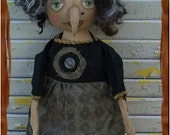 ChristmasinJuly Sale Primitive Helga The Horrible Witch With Wart