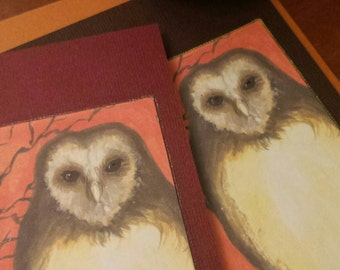 Owl - large art card