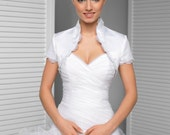 Clara Satin Bridal Bolero, Satin Wedding Bolero, Bridal Jacket