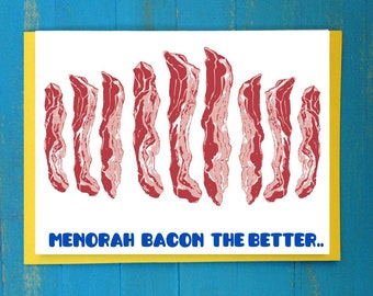 Menorah bacon the better greeting card