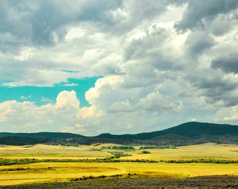 """landscape photography, large art, large wall art, art photography, summer, clouds, colorful, canvas wall art, large canvas - """"Summer Valley"""""""